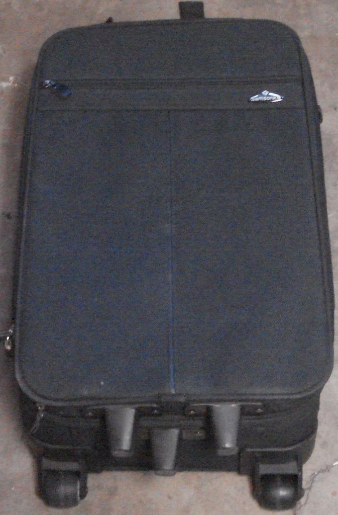 Primary image for Nice Gently Used Samsonite Mid-Size Rolling Suitcase - Canvas Outer Shell - VGC