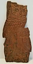 1960s 5 Hook Wooden Wood Hoot Barn Owl Owls Hanging Key Rack Holder Cabi... - $19.35