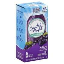 Crystal Light on the Go Grape with Caffeine Drink Mix Packets - $6.78