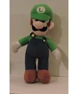 2012 Large Nintendo Super Mario Soft Plush LUIGI Doll Large 12 Inch - $9.90