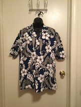 Hawaiian Ky's Adult Men's Shirt surfboards palm trees and floral FREE SH... - $22.43