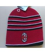 Officially License Soccer Club European AC MILAN RED STRIPED Soccer Beanie  - £16.05 GBP