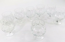 Beautiful Vintage Set of 8 Crystal Brandy Glasses or Water Goblets Wine ... - $59.98