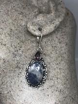 Vintage Genuine Lapis Amethyst 925 Sterling Silver Earrings - $51.48