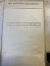 New Ralph Lauren Spa Organic Std Pillowcases 400 TC White Orchid Orig 80.00 - $40.00