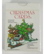 Christmas Cards 1986 Christmas Playing Cards Incorporated New SEALED  - $11.29