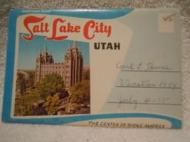 Vintage Greetings From Salt Lake City Utah Postcard Fold Out  - $9.99