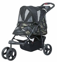 PETIQUE Pet Stroller, Green Camo, One Size - $233.28 CAD