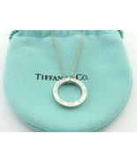 Authentic TIFFANY & CO Sterling Silver 1837 Circle Pendant Necklace - $113.15