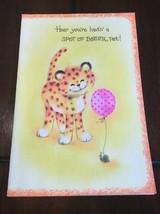 Vintage Coronation Unused Greeting Card Get Well Leopard Tiger - $2.99