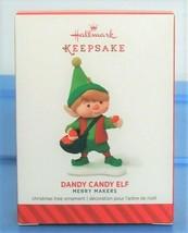 2014 Hallmark Keepsake Dandy Candy Elf Christmas Ornament Merry Makers S... - $12.90