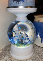 Bath And Body Works NEW Spring Bunny Water Globe Pedestal Candle Holder F/S - $120.00