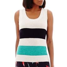 Liz Claiborne Striped Sweater Knit Tank Top Size XL New Msrp $45.00 - $19.99
