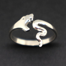 Handmade 925 Sterling Silver Snake Ring - Animal Jewelry, Size US 7 - 14 - £38.78 GBP