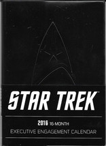 Star Trek 16 Month Stardate 2016 Executive Engagement Calendar NEW UNUSED - $9.74