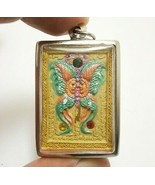 THEP JAMLANG KRUBA KRITSANA MAGIC BUTTERFLY SALIKA THAI MIRACLE AMULET P... - $149.99