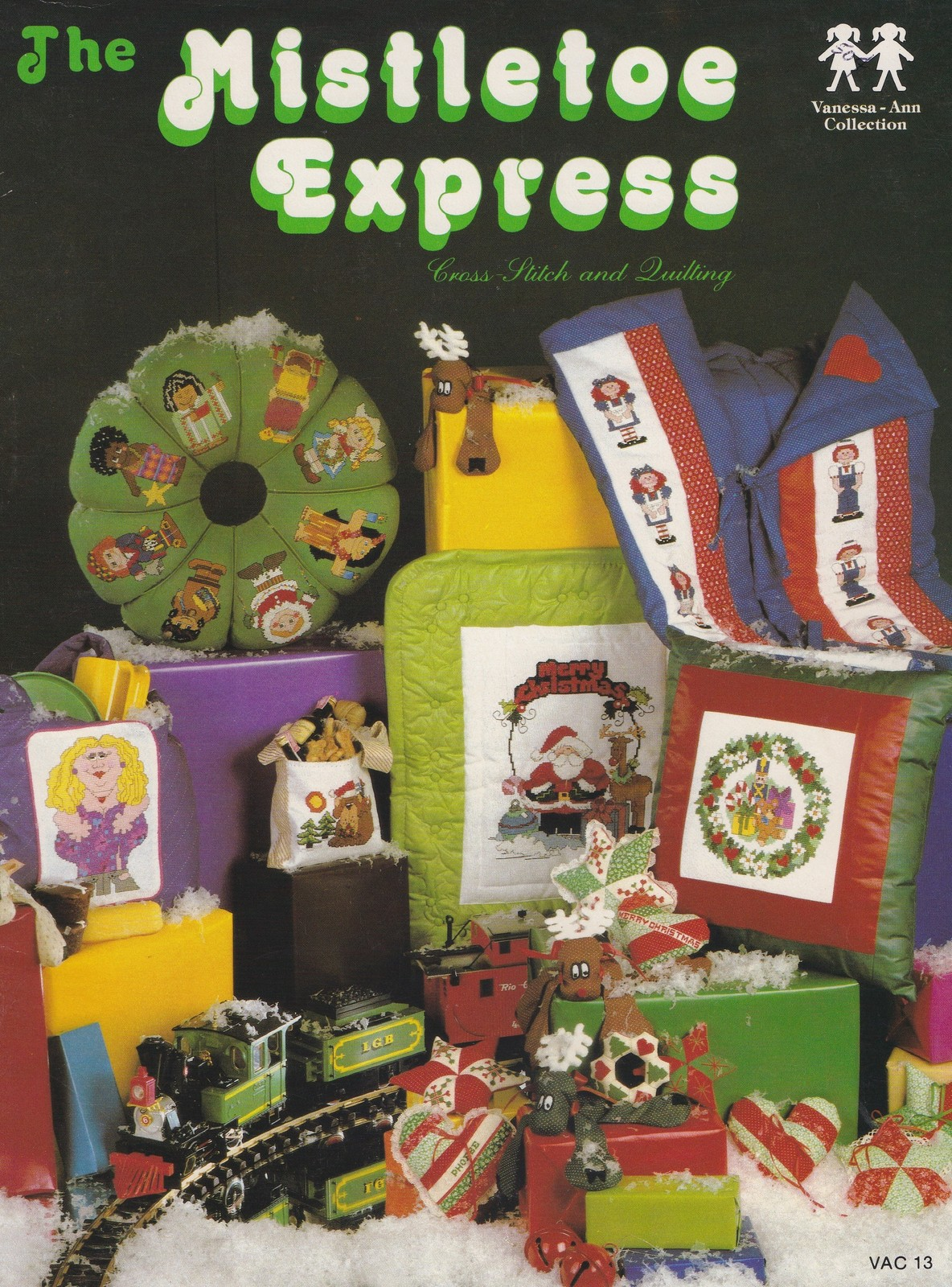 Primary image for Mistletoe Express, Vanessa-Ann Christmas Cross Stitch & Quilting Patterns VAC 13
