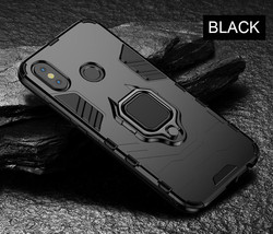 Magnetic Metal Ring Case For Xiaomi A1 A2 Phone Case Full (Black) - $17.99
