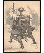Cincinnati Money Machine Sports Cartoon Newspaper Clipping Baseball Sketch - $10.99