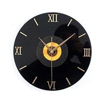 Panda Superstore Retro Black Plastic CD Wall Clock Fashion Home Decoration(12'',