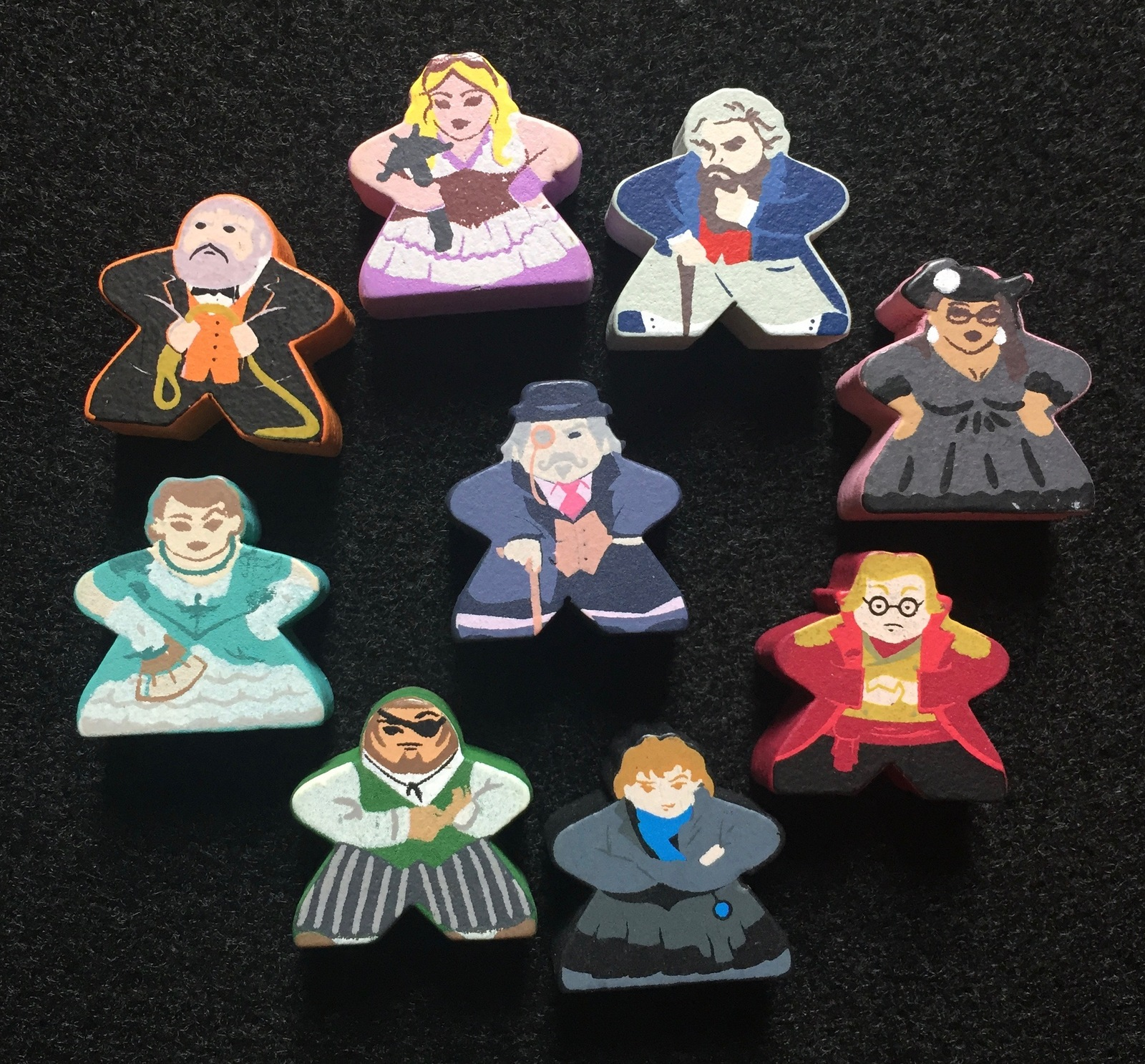 Custom Kill Doctor Lucky Meeple Set (9 figures)