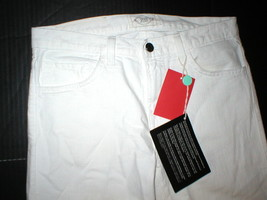 New NWT 30 x 34 Mens Designer Spurr Pipe Jeans USA White Logo Belt Patch Slim image 2