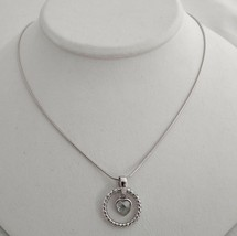 Necklace New Bling with heart sterling Silver 925 - $24.75