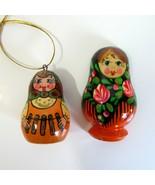 Vintage Russian Matryoshka Style Doll Wood Refrigerator Magnet & Ornament  - $8.99