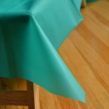 "Teal Green Reusable Table Cover 54"" x 108"" Heavy Duty - $5.79"