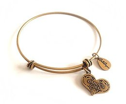 Bella Ryann Daddy's Girl Heart New Gold Charm Bangle Bracelet