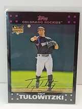 2007 Topps Baseball Card #135b Troy Tulowitzki RC Throw - $3.95