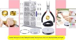 Bundle DIY Jewelry making kit tool supplies finding bracelet bead handma... - $17.75