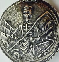 LolAntique Memento Mori verge fusee watch.Grim Reaper Skeleton Skull sil... - $6,930.00