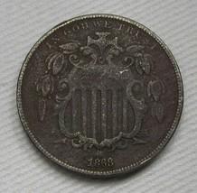 1868 Shield Nickel VF Details Coin AF413 - $30.89