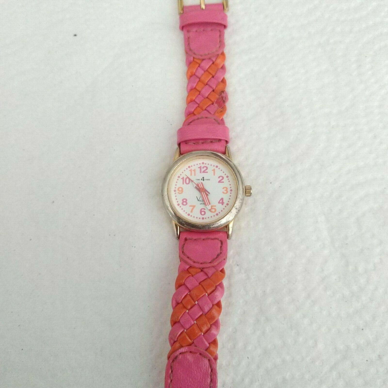 Time4Kidz Watch - Valdawn Vintage Water ressistant  Pink Leather Strap