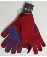 Nike Swoosh Knit Gloves Cool Blue Crimson Red Boy Girl S/M new with tags - $15.68