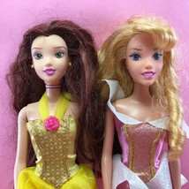 Barbie LOT OF 2 DISNEY PRINCESS BARBIE DOLLS Belle & Sleeping Beauty, Dr... - $5.50