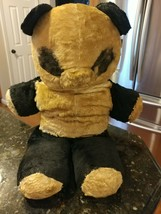 "Vintage Early Plush Panda Bear 1970s? No Tags USED 25"" Long - $115.40"