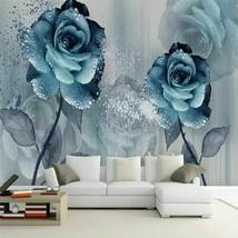 Newly High Modern Watercolor Wind Bright Blue Enchantress Beautiful Flow... - $21.02