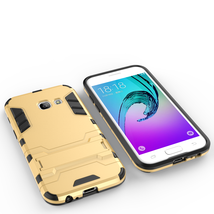 Armor Kickstand Protective Phone Cover Case for Samsung Galaxy A3 (2017) - Gold  image 2