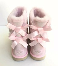 UGG BAILEY BOW PINK II PINK KIDS YOUTH US 4 -will fit Women US 6 / EU 37... - $111.27