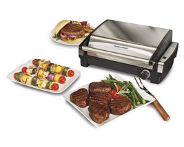 Electric Tabletop Grill Indoor Nonstick Removable Grid BBQ Dishwasher Safe NEW - $122.67