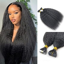 Kinky Straight Tape in Human Hair Extension Brazilian Remy Skin Weft Tape Hair C - $82.17