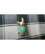 """Vintage Sterling Silver Jelly Belly Mouse Scarab Brooch Pin 1.75"""" - $16.63"""