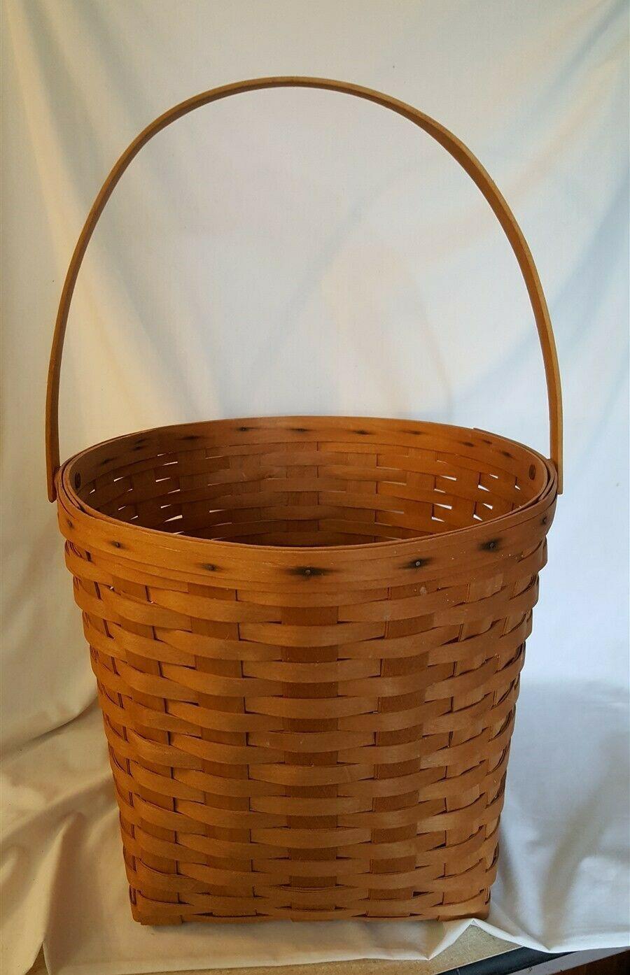 Longaberger 1996 Large MEASURING Basket With Swing Handle