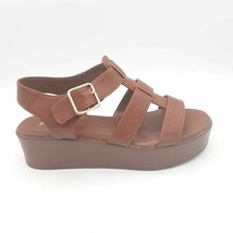 Bamboo Womens Bonus 17S Sandal Brown Adjustable Buckle Platform Heel 8.5... - $19.58