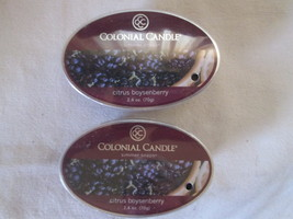 2 Colonial Candle Snaps/Tarts CITRUS & BOYSENBERRY for simmer pots - $7.00