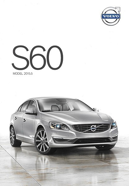 2015.5 Volvo S60 sales brochure catalog folder US T5 T6 AWD R-Design