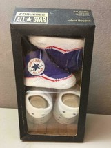 Converse All Star 2 Pair Infant Crib Booties ~Blue & White ~Sz 0-6 Month... - $24.74