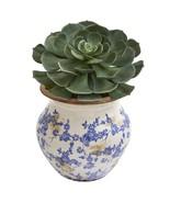"""12"""" Echeveria Succulent Pick Artificial Plant in Vintage Floral Planter - $96.99"""